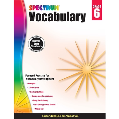 eBook: Spectrum 704613-EB Spectrum Vocabulary, Grade 6