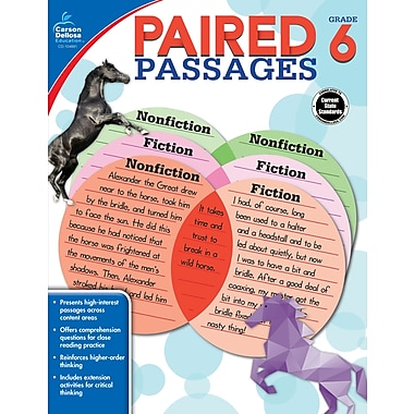 e-Book: Carson-Dellosa 104891-EB Paired Passages, Grade 6