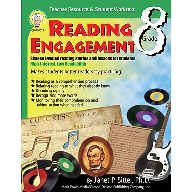 eBook: Mark Twain 404019-EB Reading Engagement, Grade 8