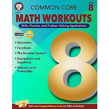 eBook: Mark Twain 404222-EB Common Core Math Workouts, Grade 8