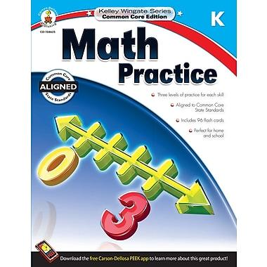 Livre numérique : Carson-Dellosa� -- Math Practice 104625-EB, maternelle