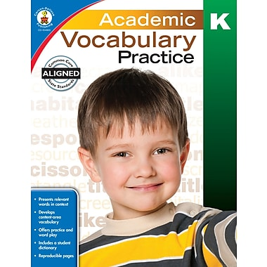 Livre numérique : Carson-Dellosa� -- Academic Vocabulary Practice 104805-EB, maternelle