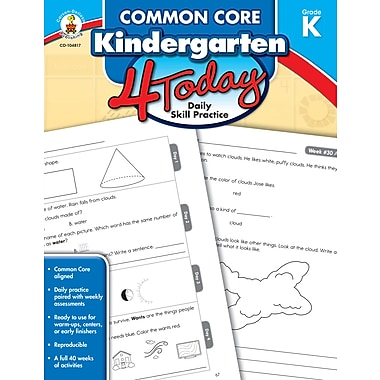 eBook: Carson-Dellosa 104817-EB Common Core Kindergarten 4 Today, Grade K