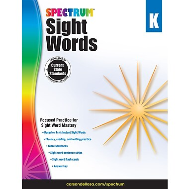 eBook: Spectrum 704614-EB Spectrum Sight Words, Grade K