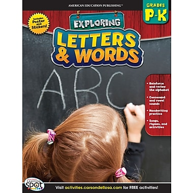 eBook: American Education Publishing 704134-EB Letters & Words, Grade PK - K