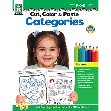 eBook: Key Education 804108-EB Cut, Color & Paste Categories, Grade PK - K