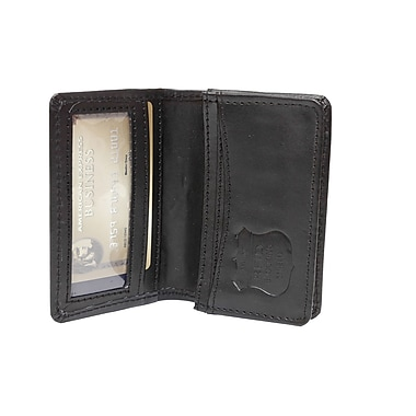 Ashlin (RFID6036-00-01) Francois RFID Blocking Business Card Holder, Gusseted with ID Section, Black