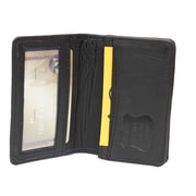Ashlin (RFID6036-18-01) Francois RFID Blocking Business Card Holder, Gusseted with ID Section, Black