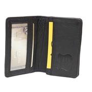 Ashlin – Porte-cartes professionnelles François anti-RFID, avec section d'identification, noir, (RFID6036-18-01)