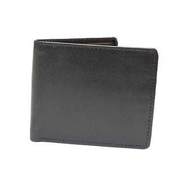 Ashlin (RFID7728-00-01) Barron RFID Blocking Men's Wallet with Angled Pockets, Black