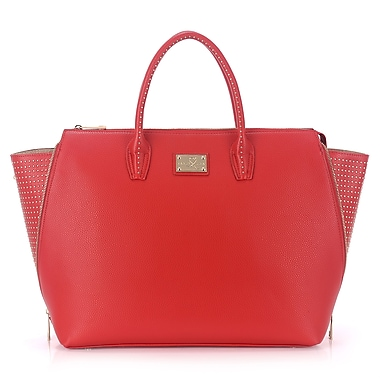 Sandy Lisa Milan Wing Tote Bag, Red, Fits up to 15.6