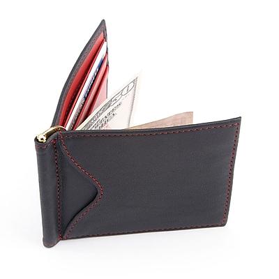 Royce Leather RFID Blocking Money Clip Credit Card Wallet(RFID-108-BLRD-5)