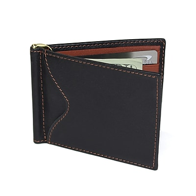 Royce Leather RFID Blocking Money Clip Credit Card Wallet(RFID-108-BLTN-5)