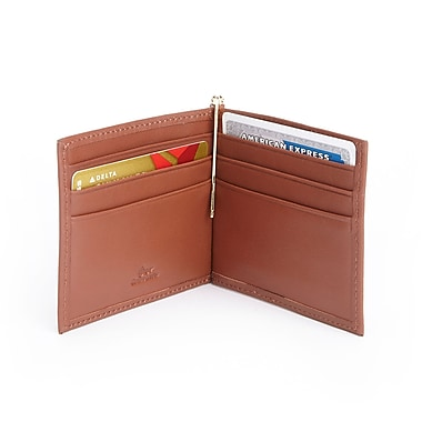 Royce RFID Blocking Money Clip Credit Card Wallet in Genuine Leather, Tan