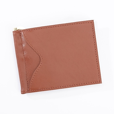 Royce Leather Slim Men's Money Clip Credit Card Wallet(108-TAN-5)