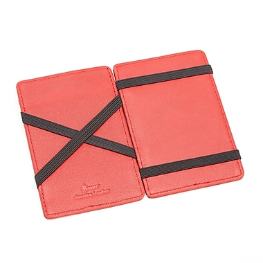 Royce Magic Wallet in Genuine Leather, Red