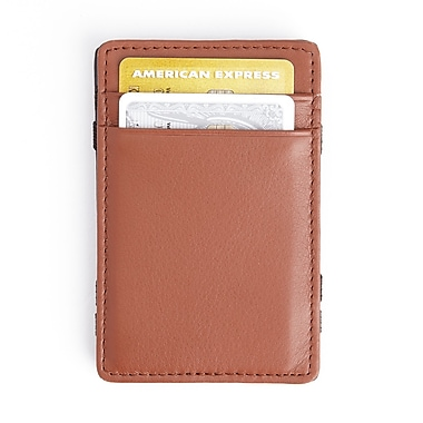 Royce Magic Wallet in Genuine Leather, Black/Tan