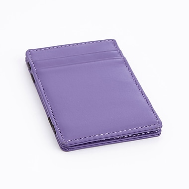 Royce Magic Wallet in Genuine Leather, Purple