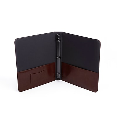 Royce Leather Chestnut Brown Italian Aristo Genuine Leather Executive 1 Inch Binder Document Organizer (303-CN-AR)
