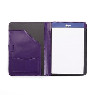 Royce Leather Purple Italian Aristo Genuine Leather Compact Writing Portfolio Organizer