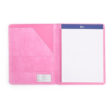 Royce Executive Writing Portfolio and Document Organizer in Pink Leather in Support of Breast Cancer Research & Support, Pink