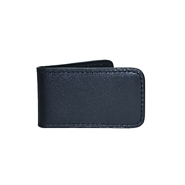Royce Magnetic Money Clip Wallet in American Genuine Leather, Handmade in The USA, Black