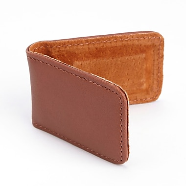 Royce Magnetic Money Clip Handcrafted in Genuine Leather, Tan