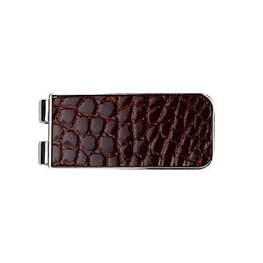 Royce Luxury Genuine Alligator Money Clip Handcrafted in USA, Cognac