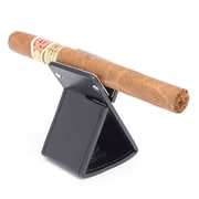 Royce Genuine American Leather Foldable Cigar Stand Ashtray Holder, Made in USA, Black