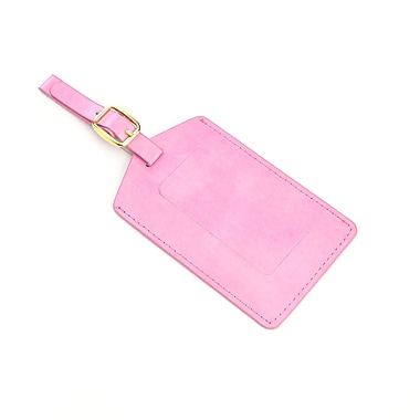Royce Luggage Tag Identification in Pink Leather in Support of Breast Cancer Research & Support
