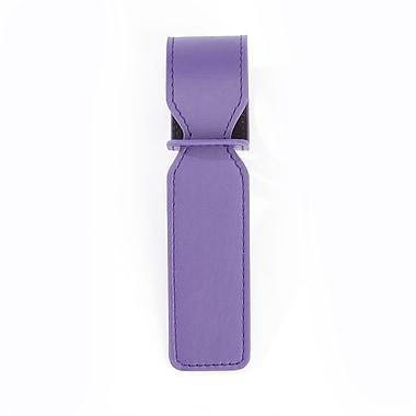 Royce Leather – Étiquette d'identification de valise de luxe, mauve