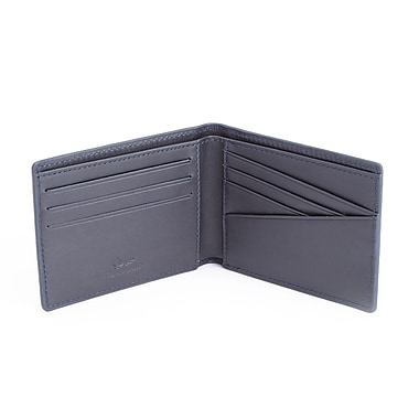 Royce 100 Step Wallet Men's Slim Bifold Wallet Handcrafted in Genuine Leather with RFID Blocking Technology, Blue