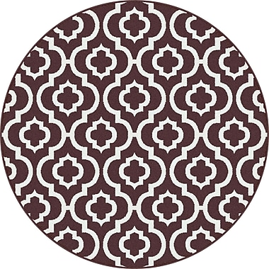 Mayberry Rug Urban Contemporary Medallion Brown Area Rug; Round 5'3''