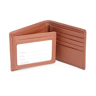 Royce RFID Blocking Men's Bifold Wallet in Genuine Leather with Double ID Display, Tan