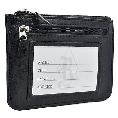 Royce RFID Blocking Slim Women's City Wallet in Saffiano Leather, Black