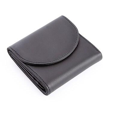Royce – Portefeuille compact anti-RFID à trois volets pour femmes, fait de cuir véritable