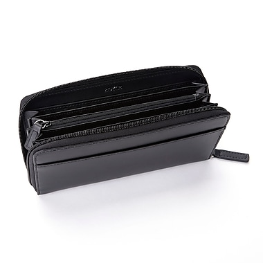 Royce RFID Blocking Continental Clutch Wallet Handcrafted in Genuine Leather, Black
