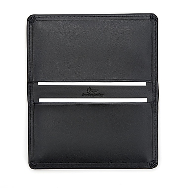 Royce RFID Blocking Business Card Case Wallet Handcrafted in Genuine Leather, Black