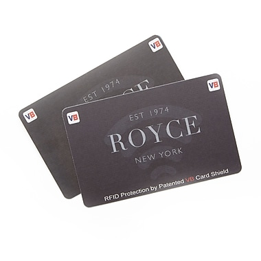 Royce Set of 2 RFID Blocking Credit Card ID Protectors for Preventing Identity Theft