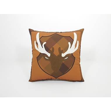 Essential Coastal Deer Head Toss Throw Pillow