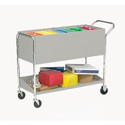 Charnstrom Long Solid Metal File Cart w/ Caster