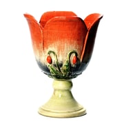 Intrada Fiore Poppie Footed Vase