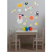 Fun To See 21 Piece Glow in Space Peel and Stick Decal Set
