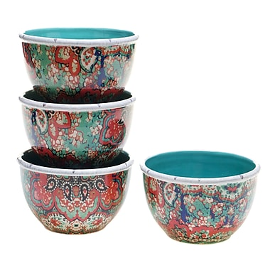 Tracy Porter Folklore Holiday Ice Cream Bowl (Set of 4)