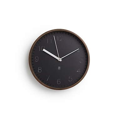 Umbra Rimwood Wall Clock, Aged Walnut (118140-746)