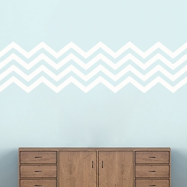 SweetumsWallDecals Chevron Stripes Wall Decal; White
