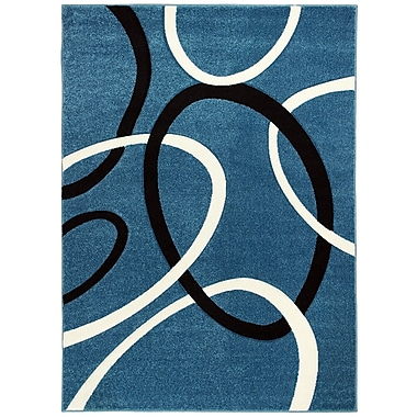 Brady Home Blue Area Rug; 5' x 7'
