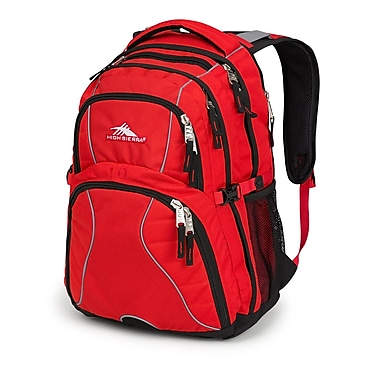 High Sierra Swerve Backpack, Crimson/Black (53665-0924)