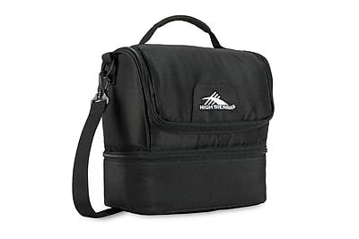 High Sierra Double-Decker Lunch Bag, Black (74713-1041)