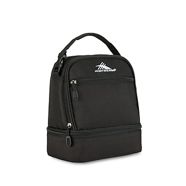 High Sierra Stacked Compartment Lunch Kit, Black (74714-1041)